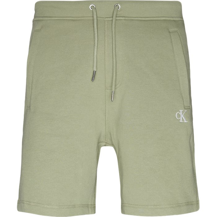 Monogram Shorts - Shorts - Regular - Grøn