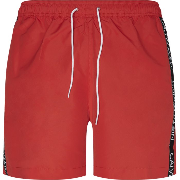 Medium Drawsting Badeshorts - Shorts - Regular - Rød