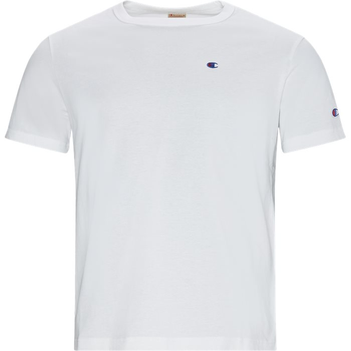 Left Chest Logo Tee - T-shirts - Regular - Hvid