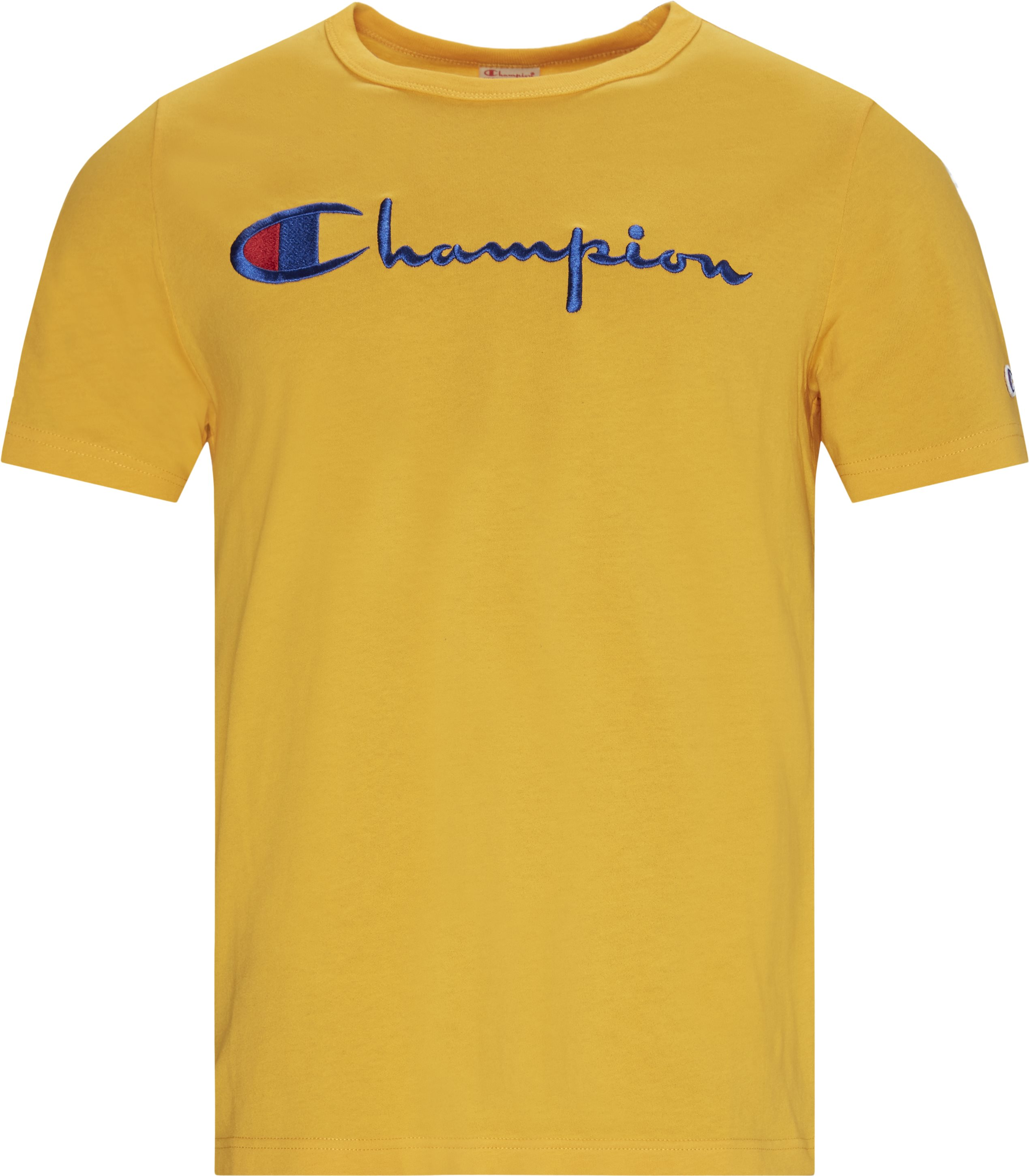 Full Chest Script Tee - T-shirts - Regular - Orange