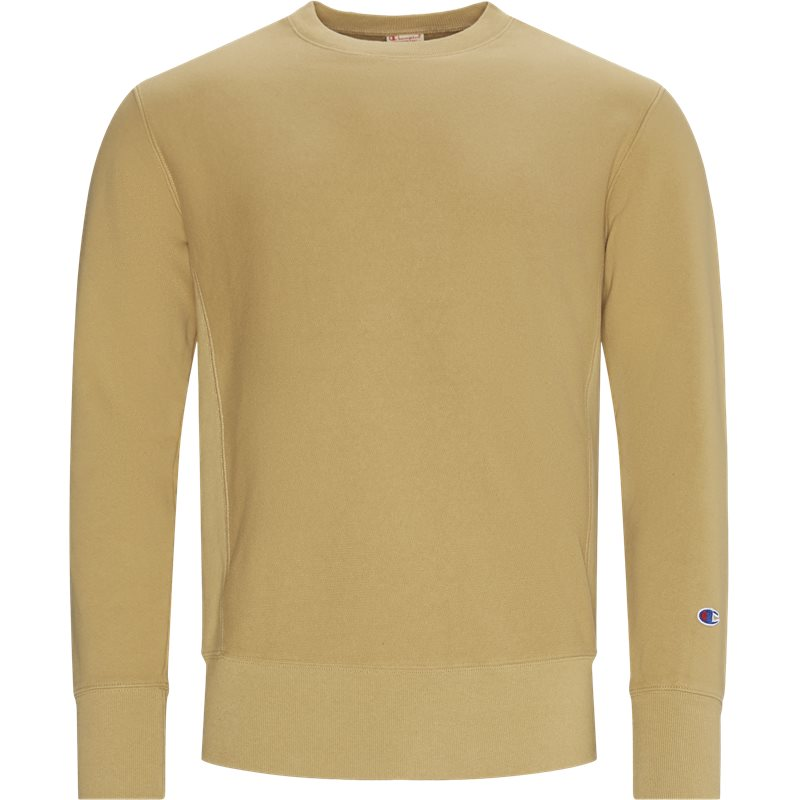 champion Champion reverse weave crew neck sweatshirt khaki på quint.dk