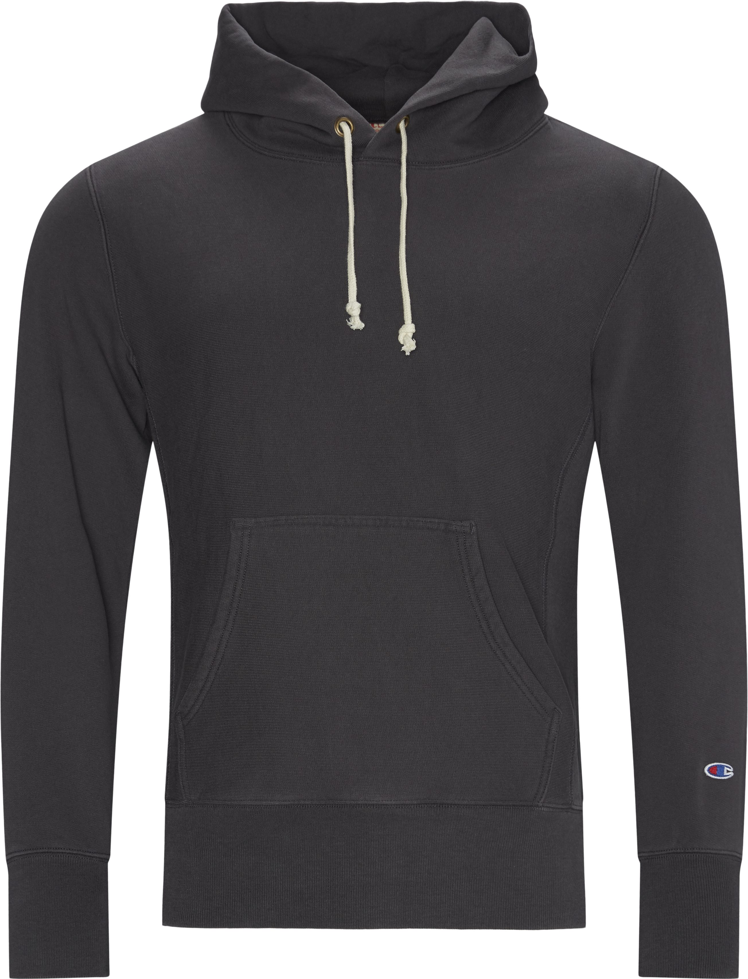 Reverse Wave Hood - Sweatshirts - Regular - Grå