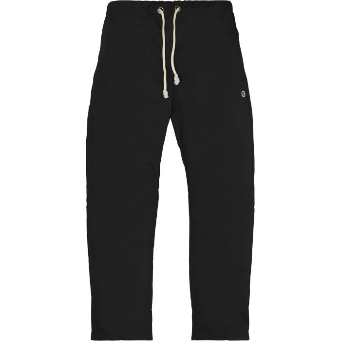 Trousers - Straight fit - Black