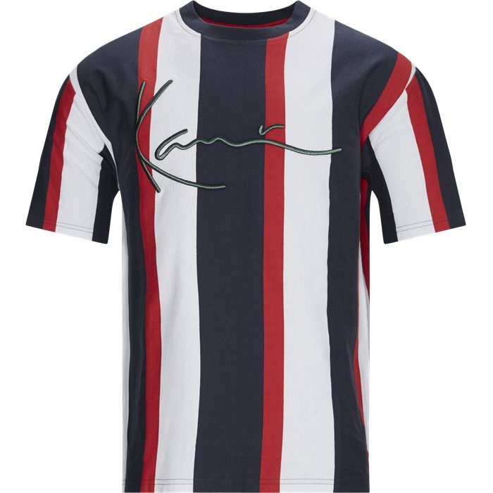 Signature Stripe Tee - T-shirts - Regular - Blå