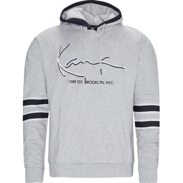 Signature Hoodie - Sweatshirts - Regular - Grå