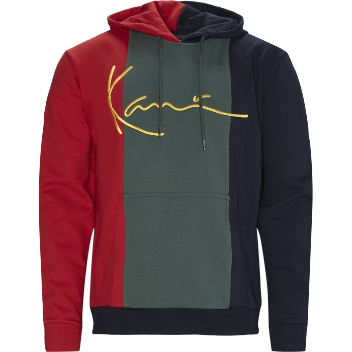 Signature Block Hoodie - Sweatshirts - Regular - Sort