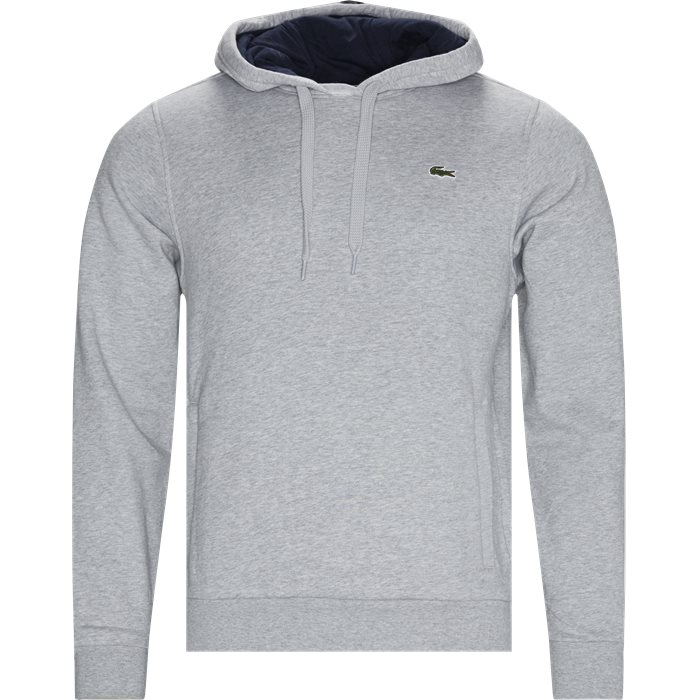 Hooded Fleece Tennis Sweatshirt - Sweatshirts - Regular - Grå