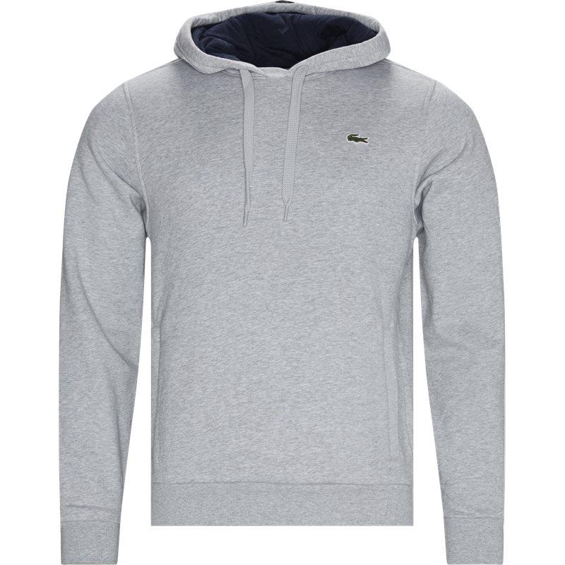 lacoste – Lacoste hooded fleece tennis sweatshirt grå på quint.dk