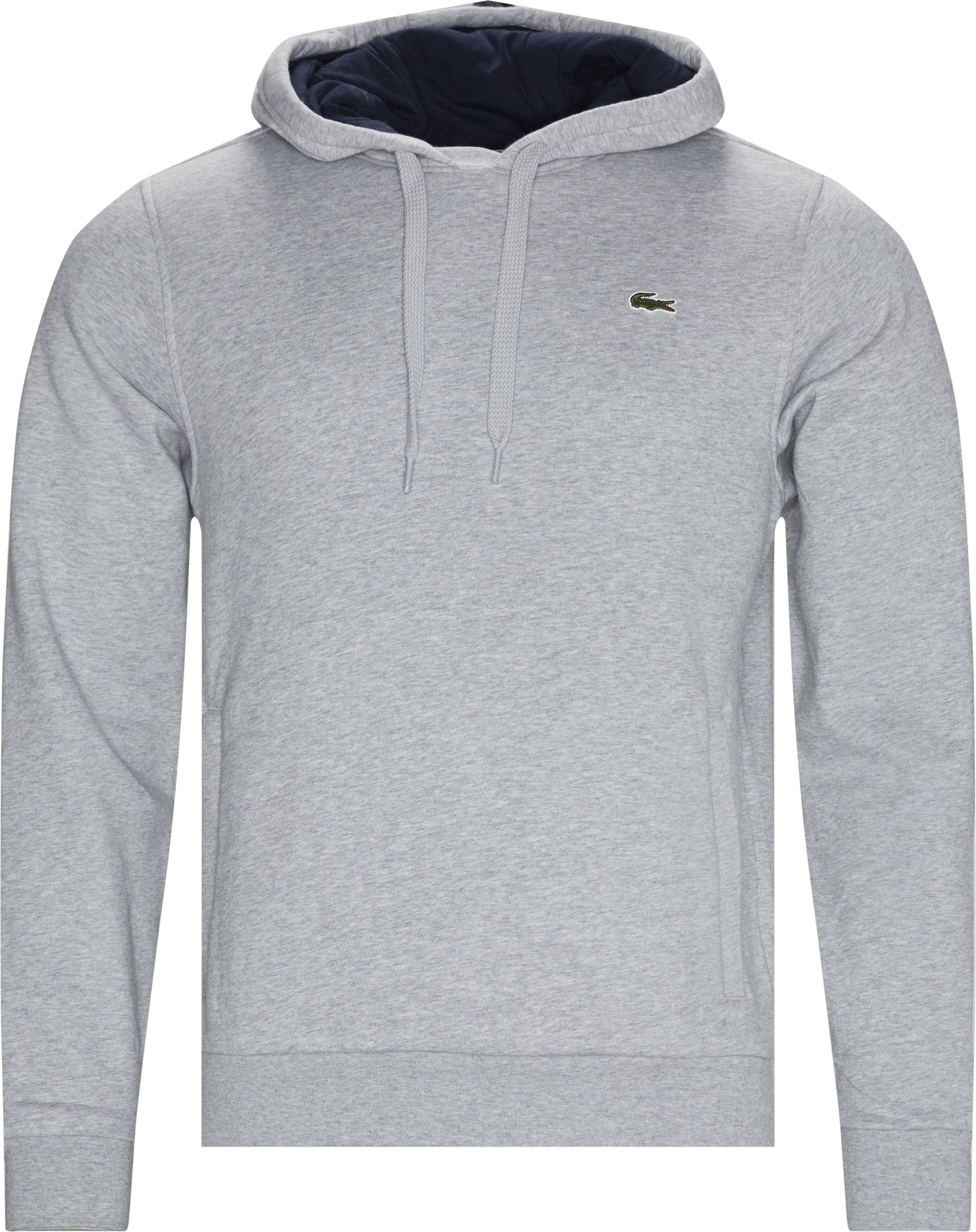 Hooded Fleece Tennis Sweatshirt - Sweatshirts - Regular fit - Grå
