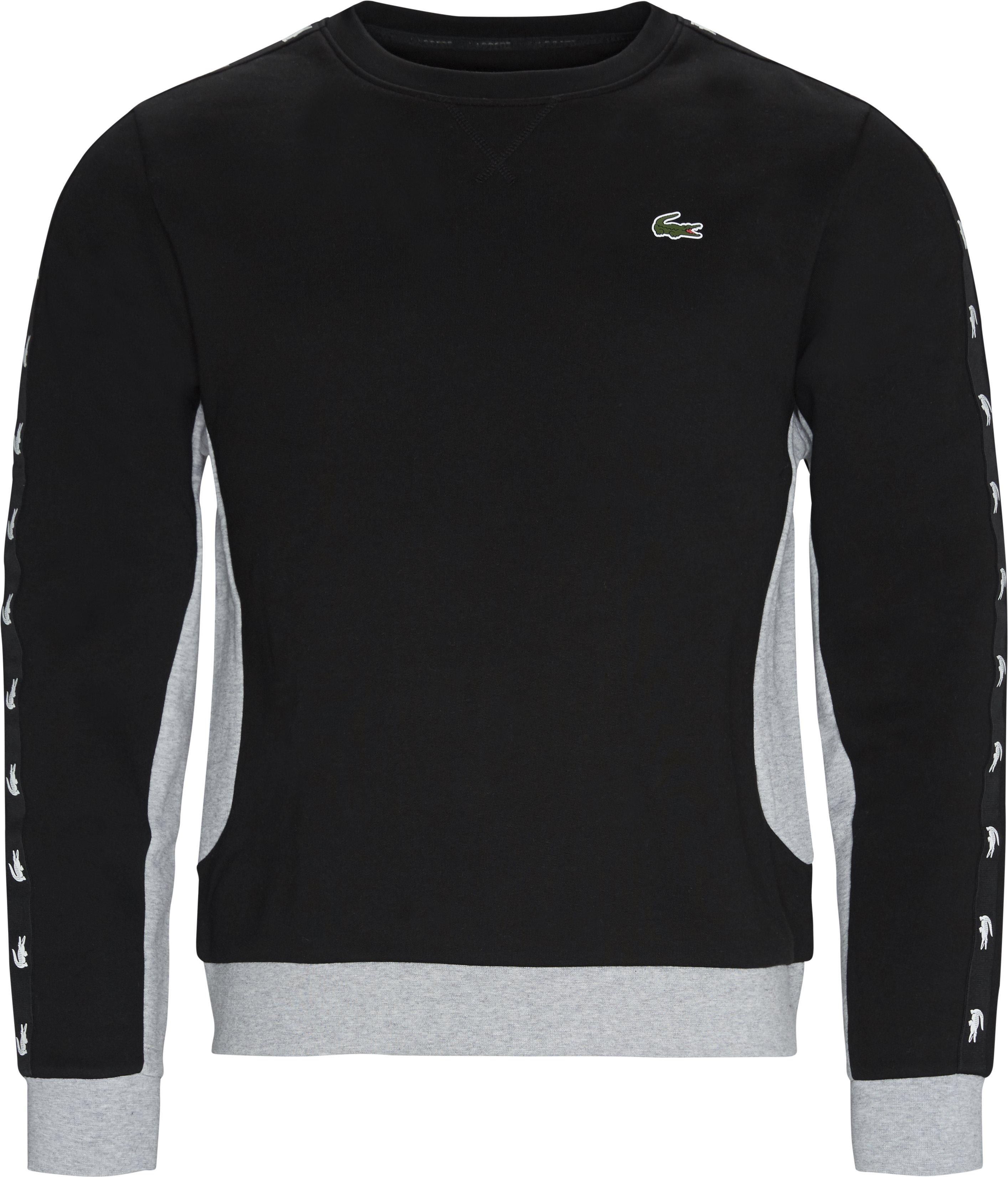 Two-Tone Fleece Crewneck Sweatshirt - Sweatshirts - Regular fit - Sort
