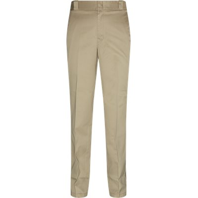 Pleated Cotton Chinos Regular | Pleated Cotton Chinos | Sand