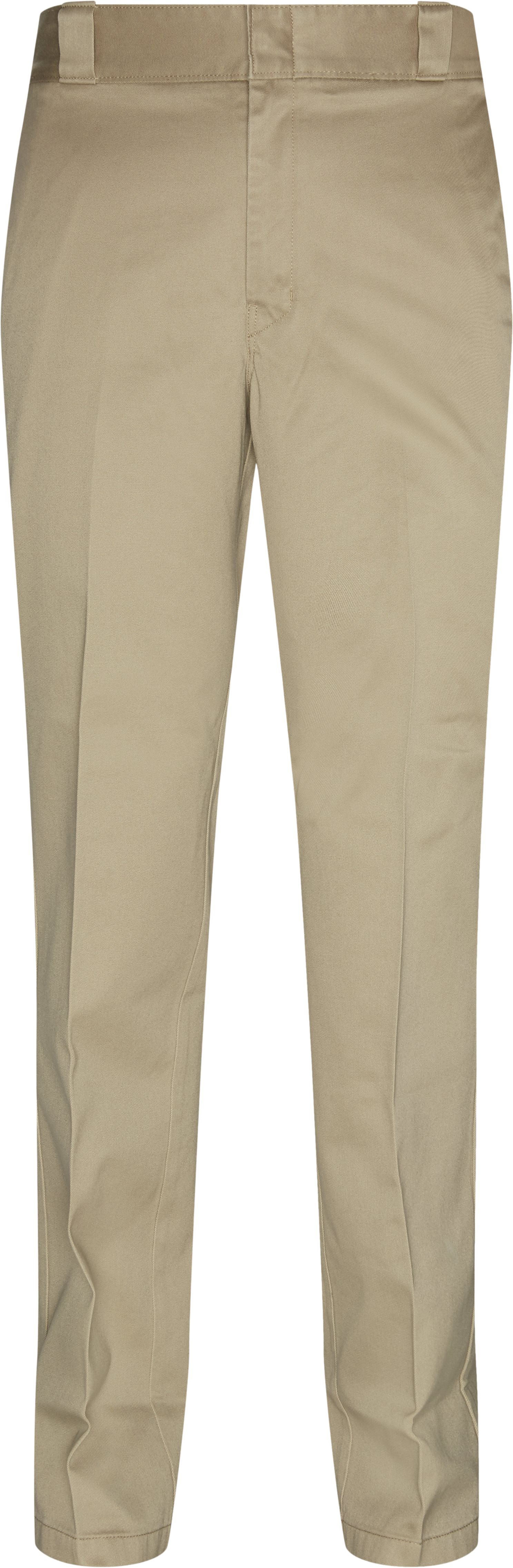 Pleated Cotton Chinos - Bukser - Regular - Sand
