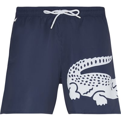 Oversized Crocodile Print Light Quick-Dry Swim Shorts Regular | Oversized Crocodile Print Light Quick-Dry Swim Shorts | Blå