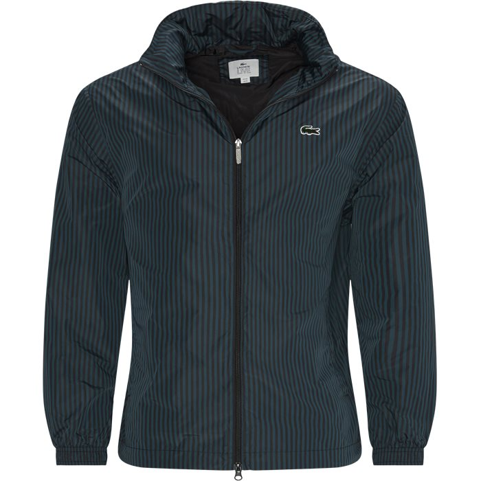 Striped Light Zip Jacket - Jakker - Regular - Grøn