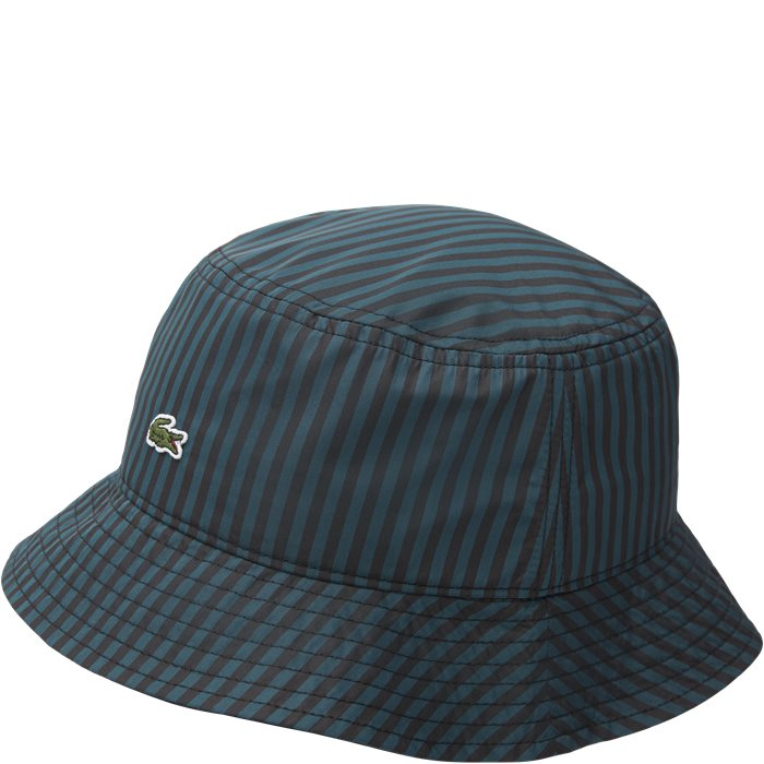 Striped Bucket Hat - Caps - Grøn