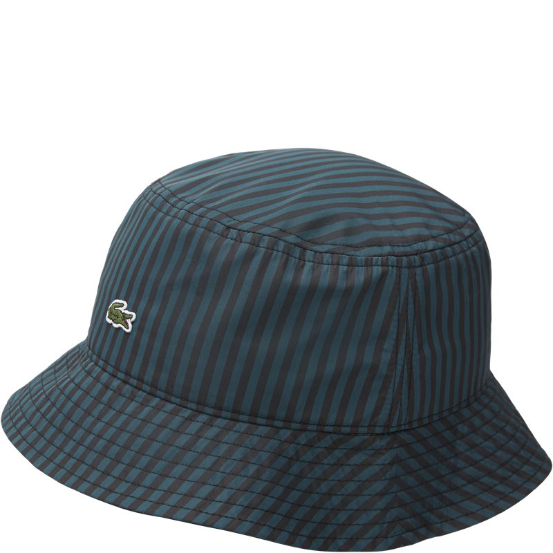 Image of   Lacoste Striped Bucket Hat Grøn
