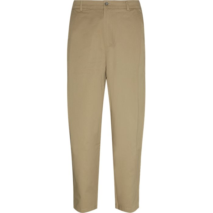 Trousers - Loose - Sand
