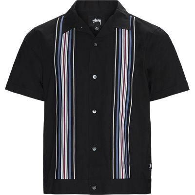 Striped Knit Panel Shirt Regular | Striped Knit Panel Shirt | Sort