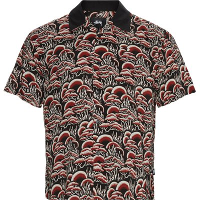 Coral Pattern Shirt Regular | Coral Pattern Shirt | Rød