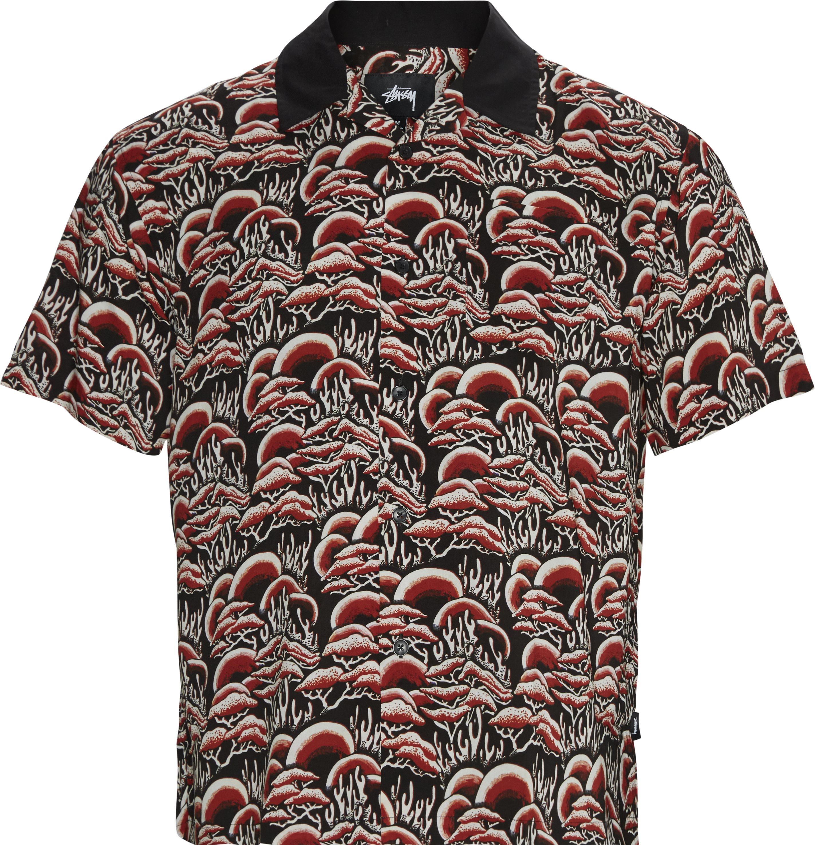 Coral Pattern Shirt - Skjorter - Regular - Rød