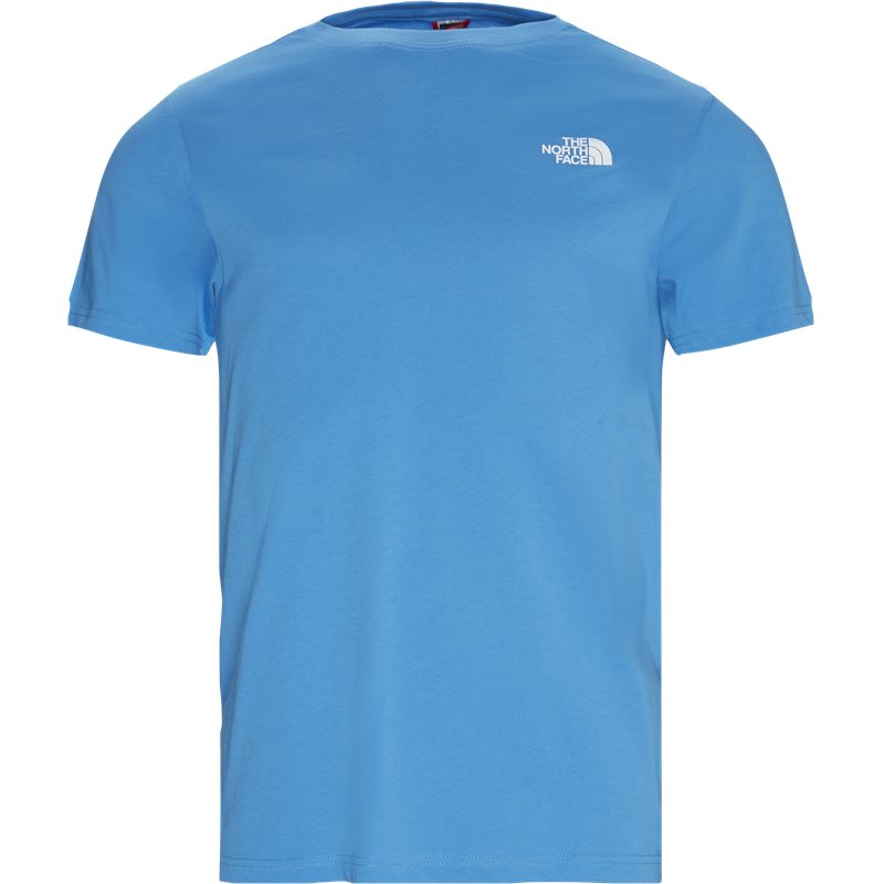 The north face s/s red box tee blå fra the north face fra quint.dk