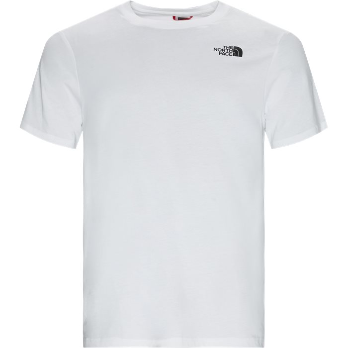 S/S Red Box Tee - T-shirts - Regular - Hvid