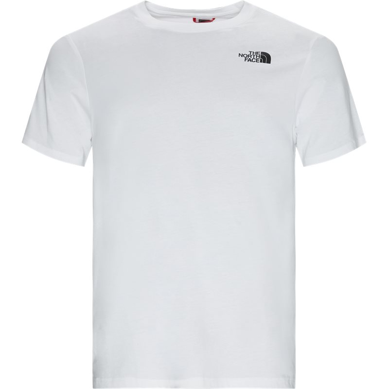 The north face s/s red box tee hvid fra the north face på quint.dk