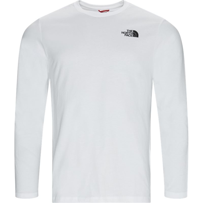 the north face – The north face ls red box tee hvid på quint.dk
