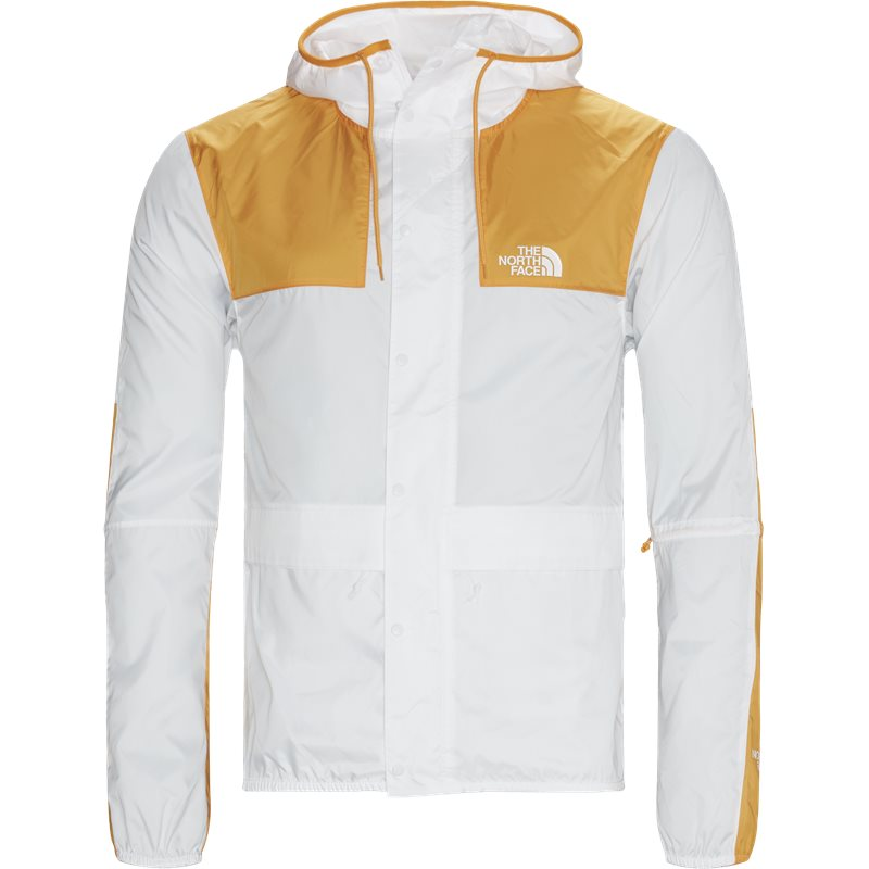 the north face The north face mountain jacket hvid/orange fra quint.dk