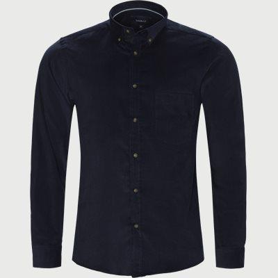 Falk Cosy Cord Skjorte Regular | Falk Cosy Cord Skjorte | Blå