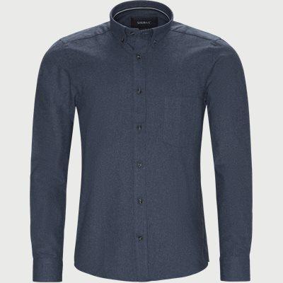 Nash CP Melange Skjorte Regular | Nash CP Melange Skjorte | Blå