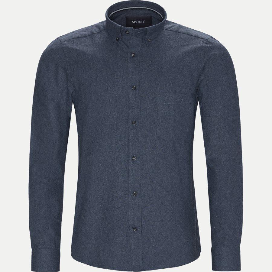 15340 1441 - Nash CP Melange Skjorte - Skjorter - Regular - BLÅ - 1