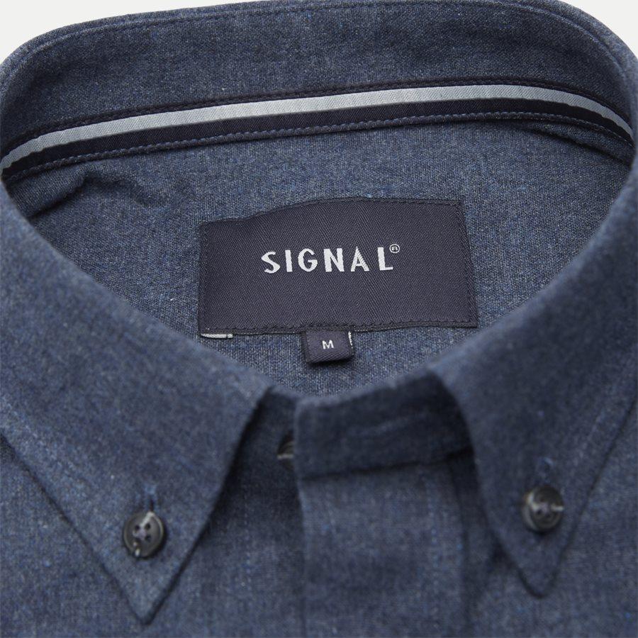15340 1441 - Nash CP Melange Skjorte - Skjorter - Regular - BLÅ - 3