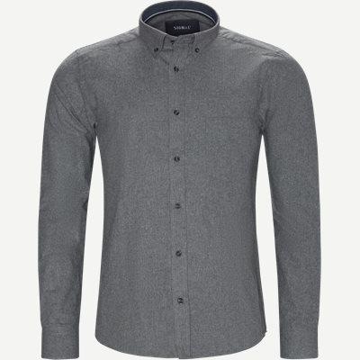 Nash CP Melange Skjorte Regular | Nash CP Melange Skjorte | Grå