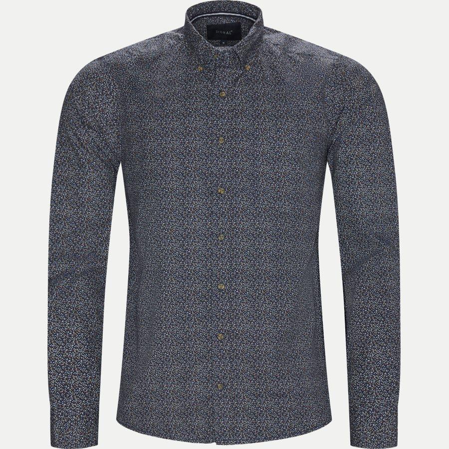 15370 0 - Neil Print CP Easy Skjorte - Skjorter - Regular - BLÅ - 1