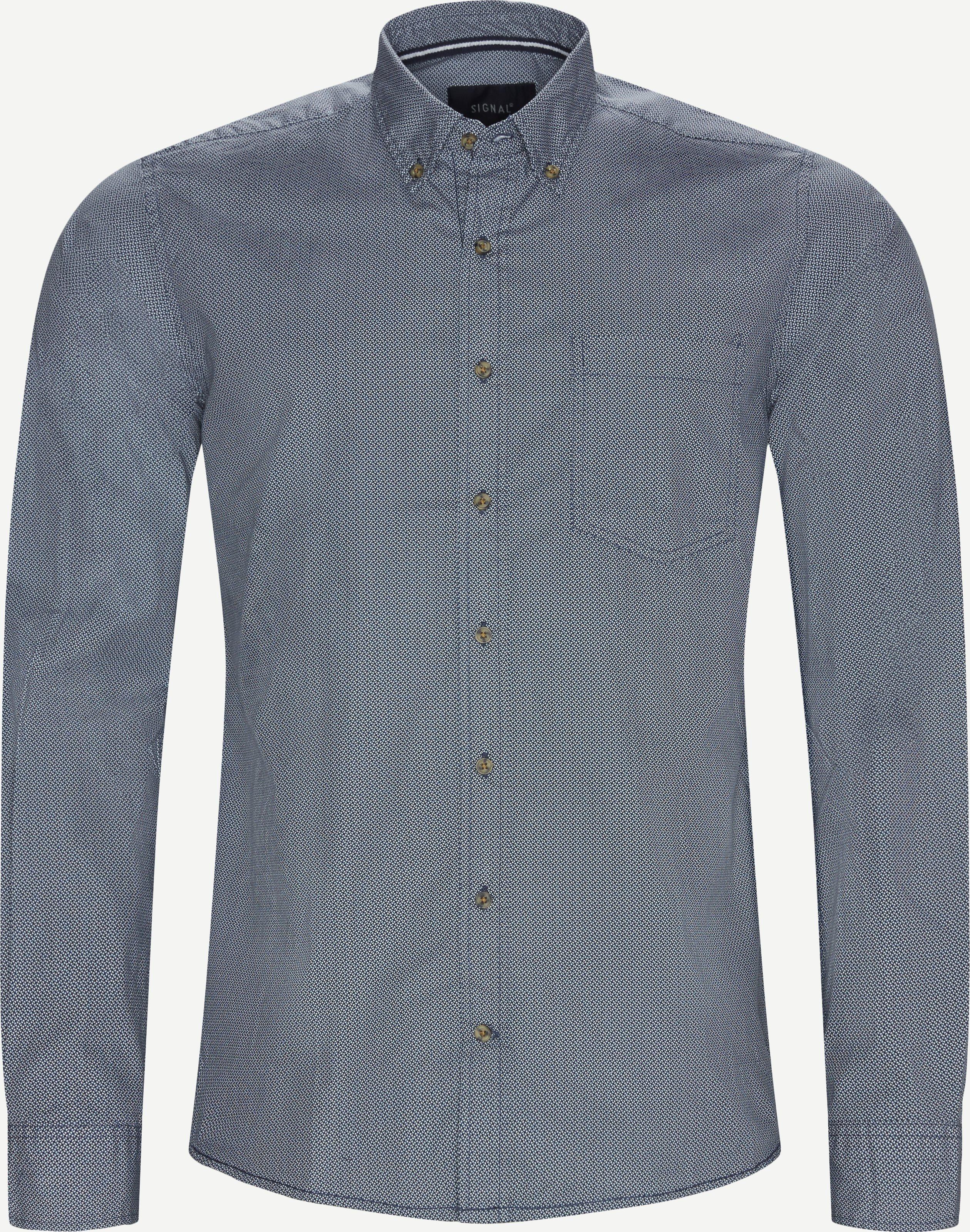Neil Print CP Easy Skjorte - Skjorter - Regular - Blå
