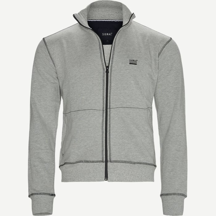Raven Full Zip Sweatshirt - Sweatshirts - Regular - Grå