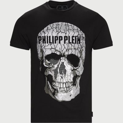SS Skull Strass T-shirt Regular | SS Skull Strass T-shirt | Sort