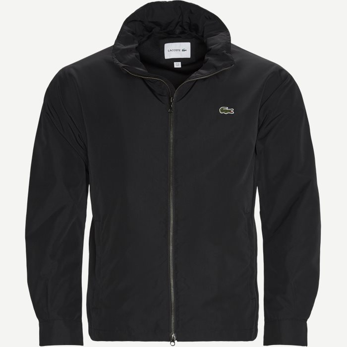 Lightweight Water-Resistant Zip Windbreaker - Jakker - Regular - Sort