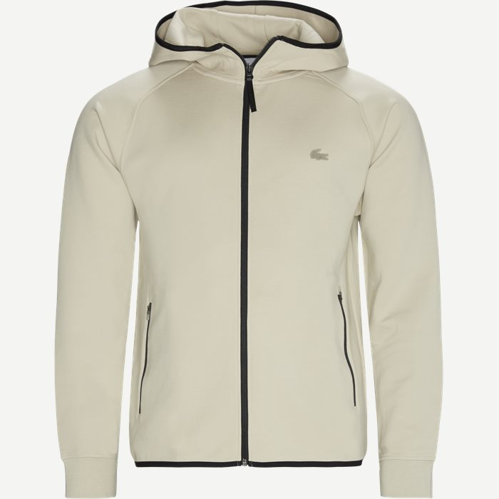 Motion Hooded Zip Sweatshirt - Sweatshirts - Regular - Sand