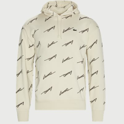 Hooded Print Fleece Sweatshirt Regular | Hooded Print Fleece Sweatshirt | Sand