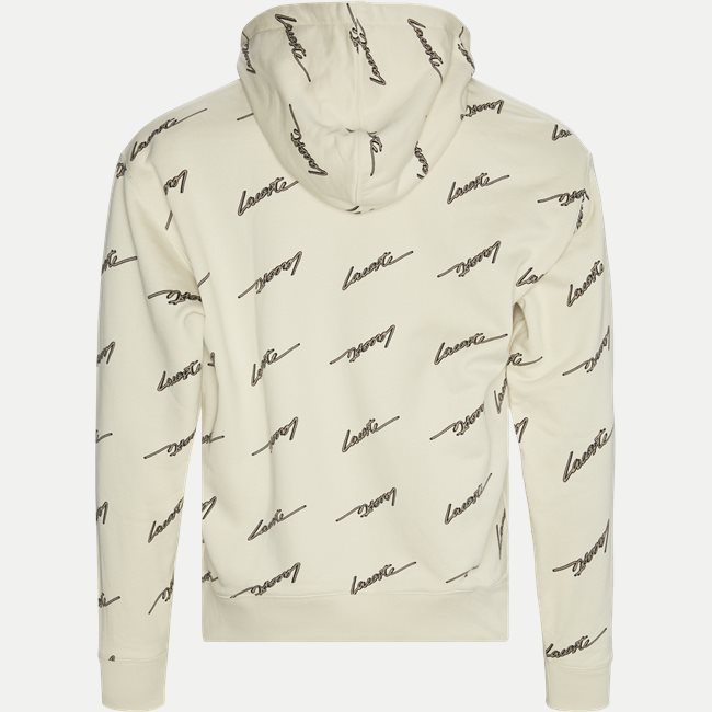 Hooded Print Fleece Sweatshirt