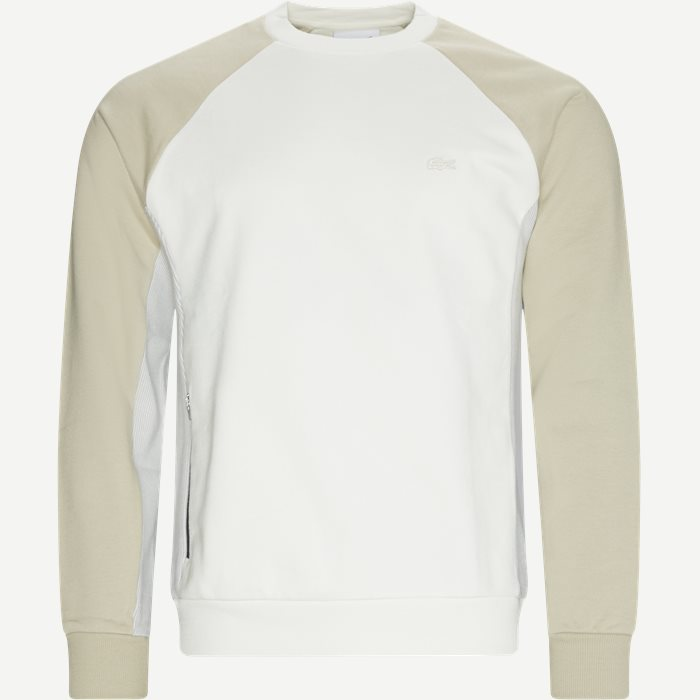 Colourblock Crew Neck Sweatshirt - Sweatshirts - Regular - Sand