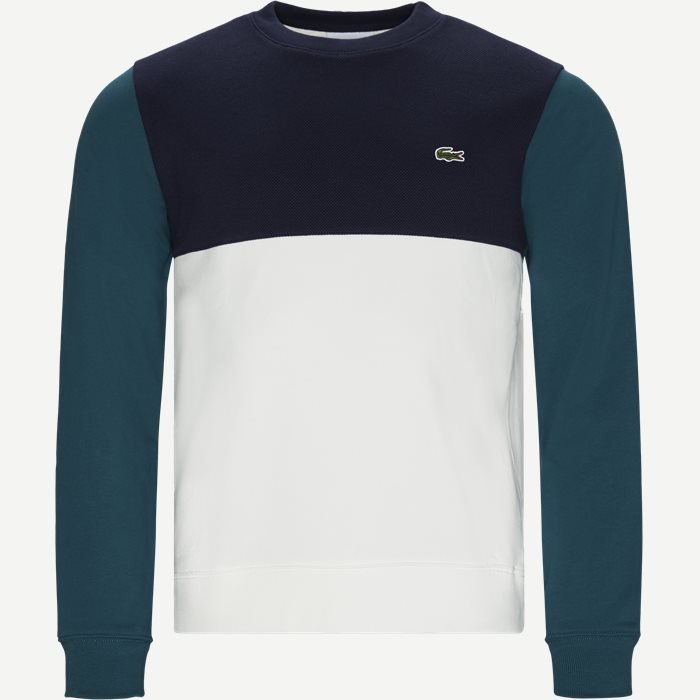 Colourblock Cotton Sweatshirt - Sweatshirts - Regular - Blå