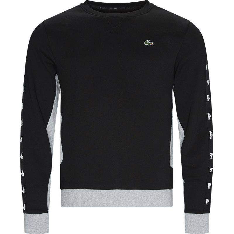 lacoste Lacoste - two-tone fleece crew neck sweatshirt fra kaufmann.dk