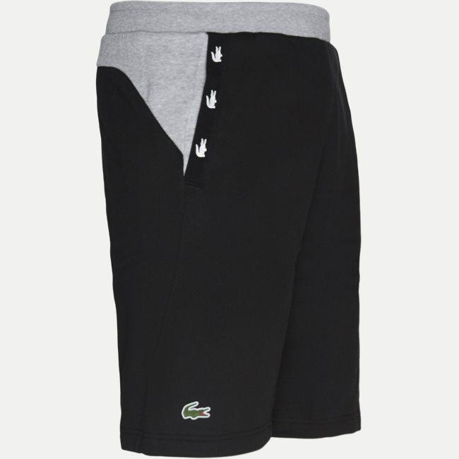 Crocodile Striped Colourblock Fleece Shorts
