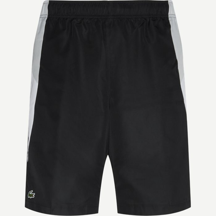 Colourblock Cut-Out Tennis Shorts - Shorts - Regular - Sort