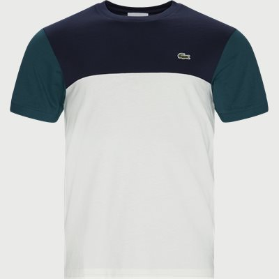Colourblock Cotton Tee Regular | Colourblock Cotton Tee | Blå