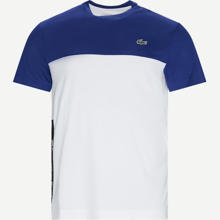 Colourblock Breathable Piqué T-shirt - T-shirts - Regular - Blå