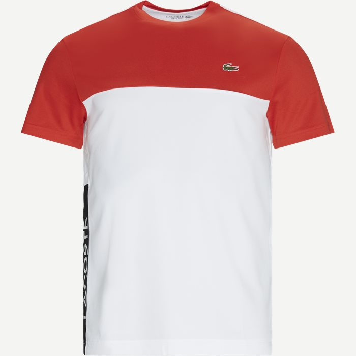 Colourblock Breathable Piqué T-shirt - T-shirts - Regular - Orange